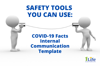Safety Tools – COVID-19 Facts – Internal Communication Template