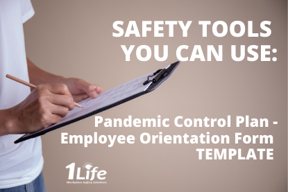 Safety Tools – Pandemic Control Plan – Employee Orientation Form – Template