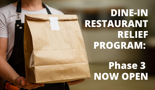 Dine-in Restaurant Relief Fund Expanded to Include Fast Casual